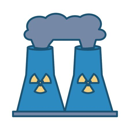 nuclear plant chimney isolated icon vector illustration design