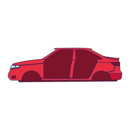 car repair design of car body icon over white background, vector illustration Stock Illustratie