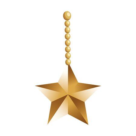 decorative star hanging over white background, vector illustration 일러스트