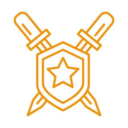 shield award price with sword vector illustration design