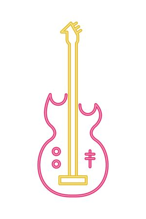 electric guitar musical instrument isolated icon vector illustration design Ilustração