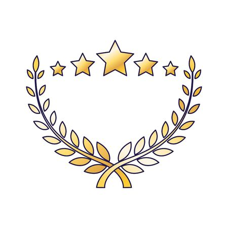 stars golden ornament over white background, colorful design, vector illustration 일러스트