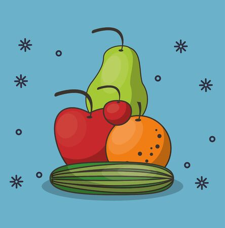 healthy food life style icons vector illustration design Ilustrace