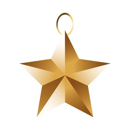 star ornament icon over white background, colorful design, vector illustration