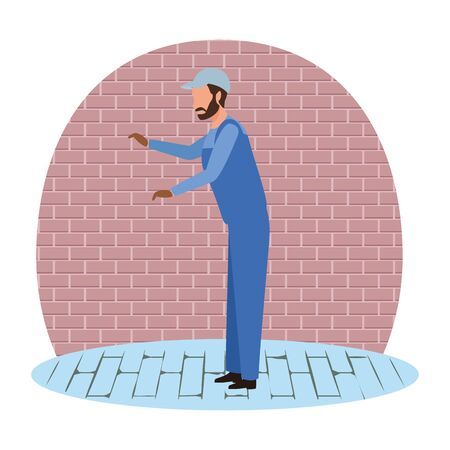 industry factory worker cartoon vector illustration graphic design
