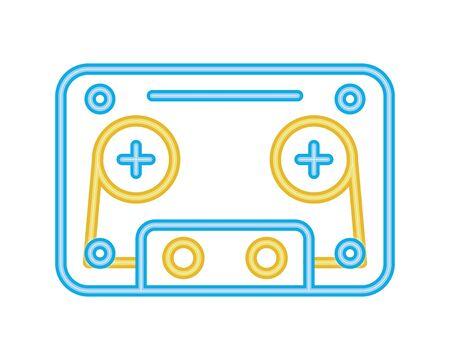 cassette retro audio device icon vector illustration design