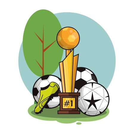 set sports equipment isolated icon vector illustration design