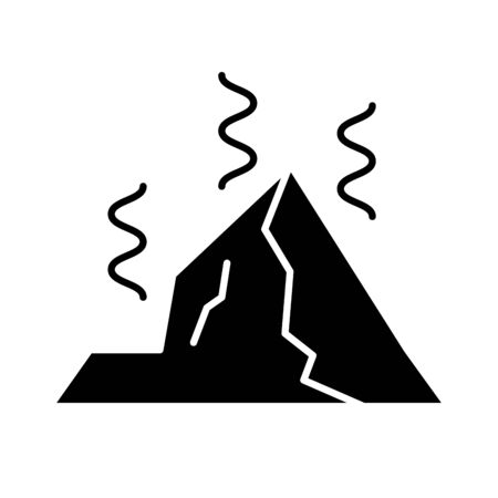 mountain hot warming global flat style icon illustration design