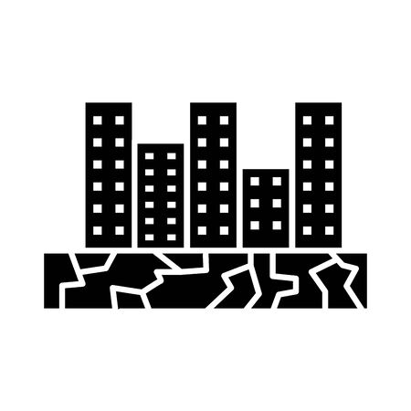 buildings city scape isolated flat style icon vector illustration design  イラスト・ベクター素材