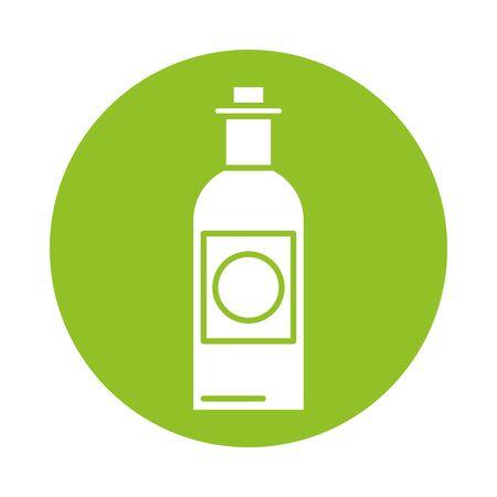 wine bottle drink isolated icon vector illustration design