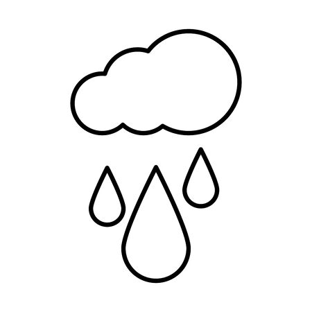 cloud with raindrops icon vector illustration design