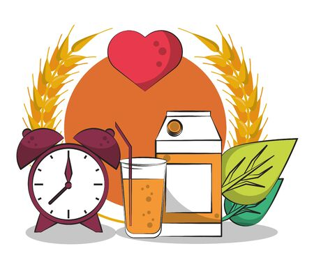 healthy life style set icons vector illustration design Ilustrace