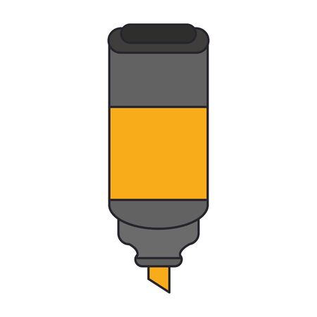 highlighter pen icon over white background, vector illustration