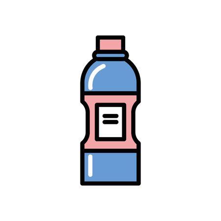 bottle water sport equipment icon vector illustration design