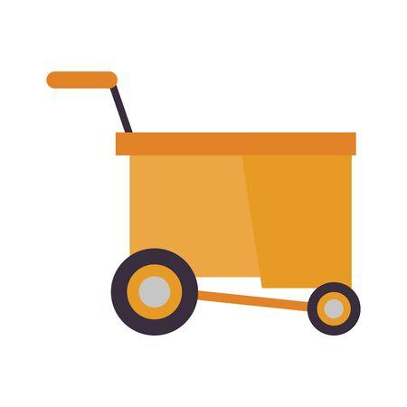 housekepping cart equipment isolated icon vector illustration design