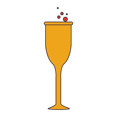 champagne glass celebration cup isolated cartoon vector illustration graphic design Stock Illustratie