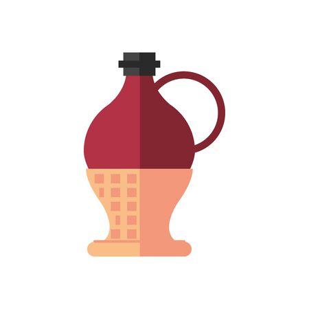 wine jar drink isolated icon vector illustration design
