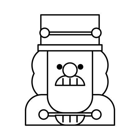 little nutcraker soldier toy icon vector illustration design Illustration