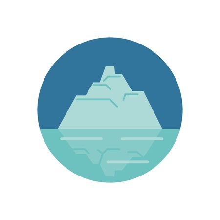 iceberg floating in the water vector illustration design 向量圖像