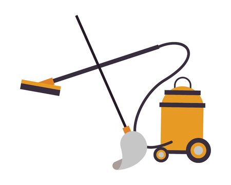 vacuum cleaner appliance and mop vector illustration design