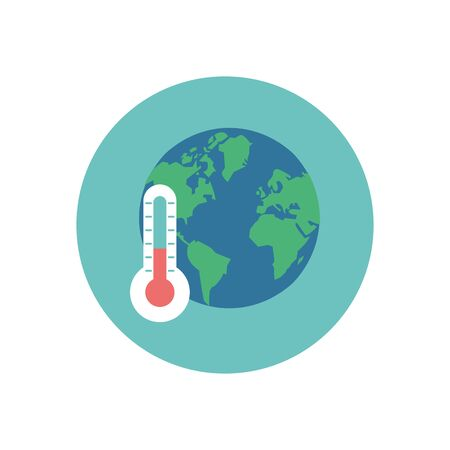 world planet earth with thermometer vector illustration design Illustration
