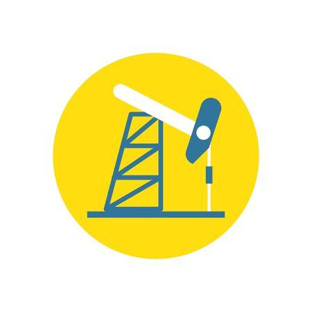 drill refinery plant isolated icon vector illustration design Stock Illustratie
