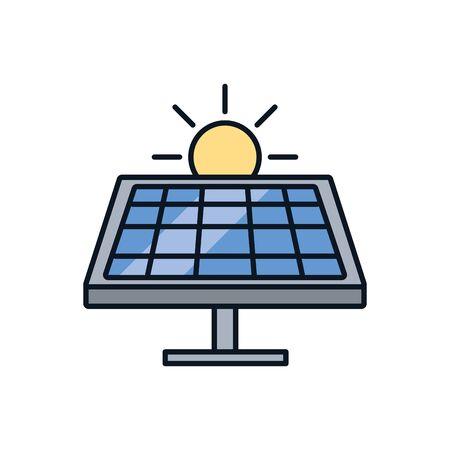 solar panel device isolated icon vector illustration design