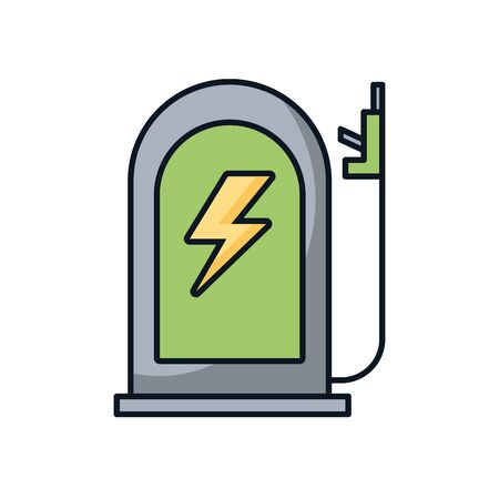 station service ecology isolated icon vector illustration design