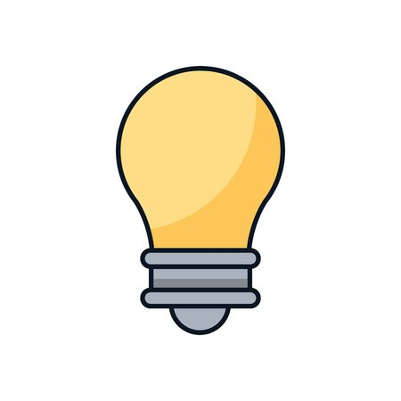 bulb light idea isolated icon vector illustration design