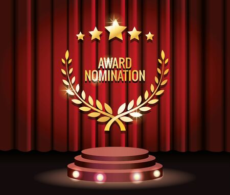 films award stars and wreath trophy vector illustration design Ilustrace