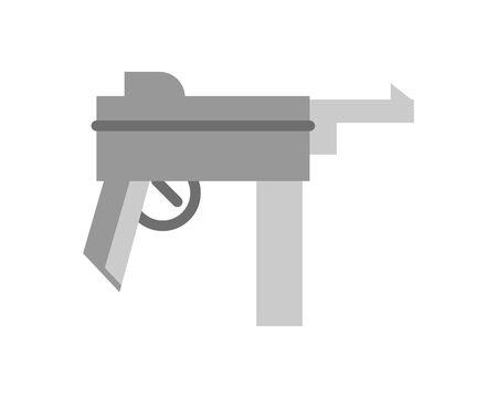 gun military force isolated icon vector illustration design Ilustrace