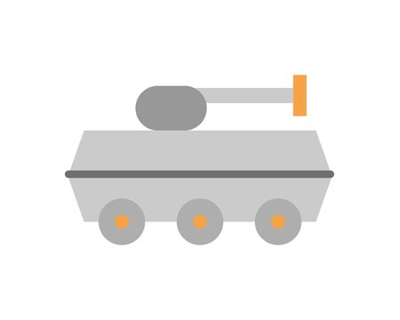 tank military force isolated icon vector illustration design