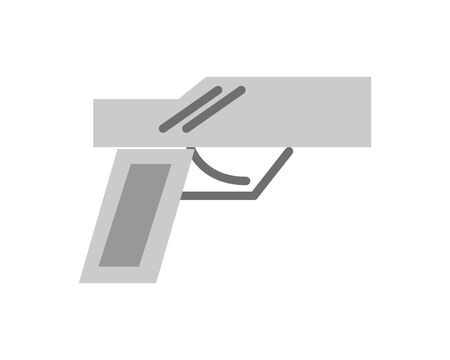 gun military force isolated icon vector illustration design