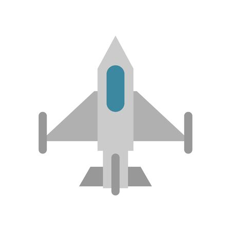 airplane military force isolated icon vector illustration design Illusztráció