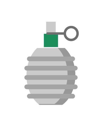 grenade military force isolated icon vector illustration design Ilustração