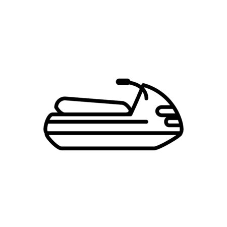 jet ski transport linear design vector illustration Vettoriali