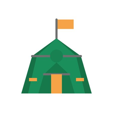 tent military force isolated icon vector illustration design