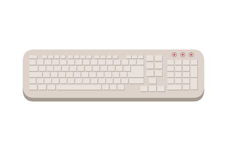 computer hardware keyboard isolated icon vector illustration design