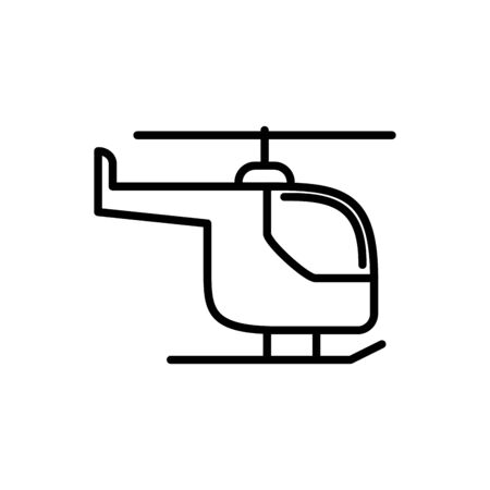 helicopter transport linear design icon vector illustration