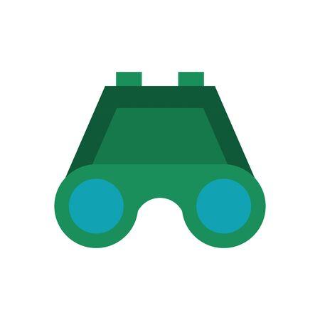 binoculars military force isolated icon vector illustration design Ilustrace