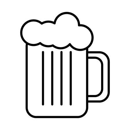 beer jar glass isolated icon vector illustration design Ilustração