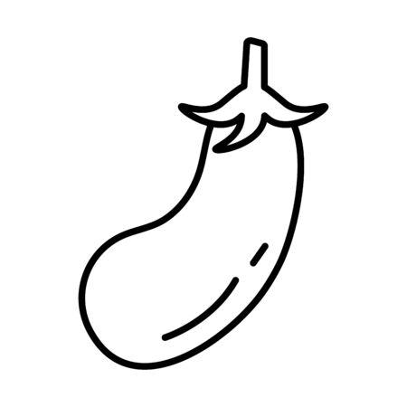 fresh eggplant vegetable healthy food icon vector illustration design