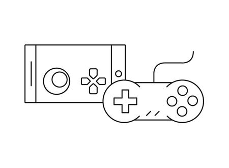 video game controls handle icons vector illustration design