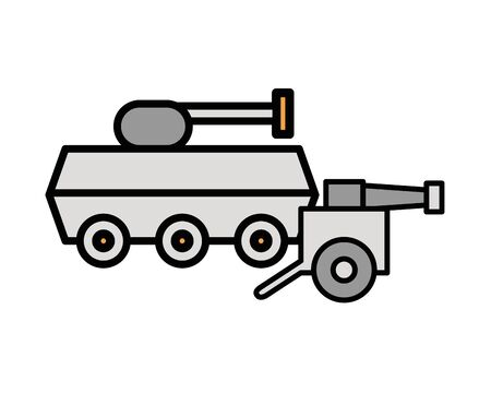 tank military force with cannon war vector illustration design Ilustrace