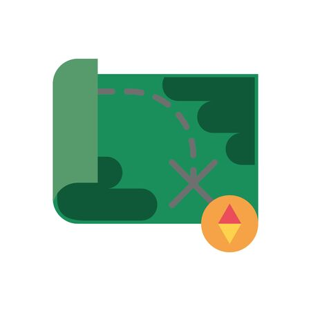 paper map military force isolated icon vector illustration design