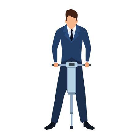 Businessman design, Man business management corporate job occupation and worker theme Vector illustration Stock Illustratie