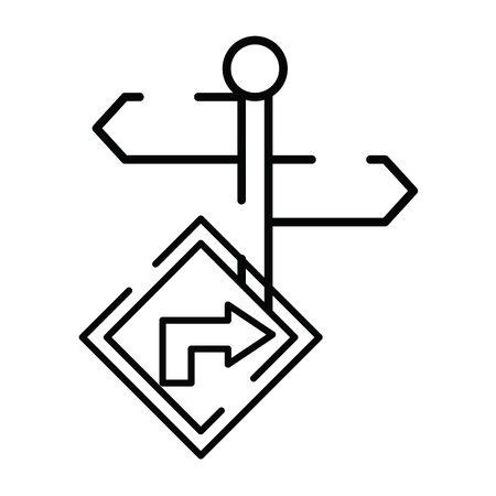 traffic arrow signal isolated icon vector illustration design