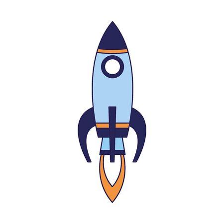 space rocket icon over white background, vector illustration Illustration