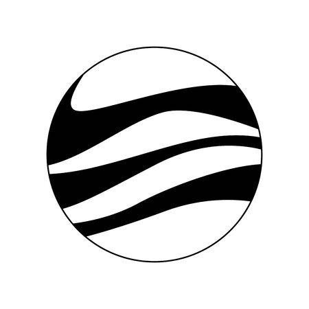 jupiter planet icon over white background, vector illustration