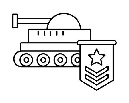 military force medal with tank vector illustration design Ilustrace